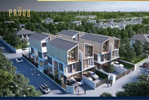 บ้านแฝดหรู 3 ชั้น สไตล์บ้านเดี่ยว The Proud Bangsaen ใกล้บางแสน สงบเป็นส่วนตัว พร้อมอยู่